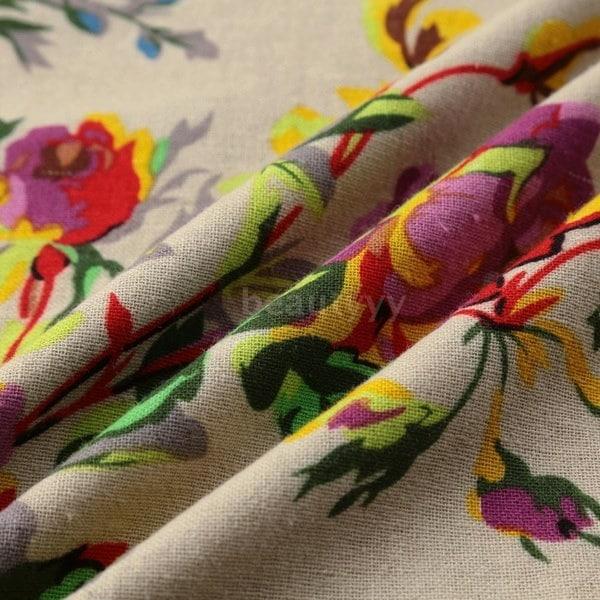 プラスサイズヴィンテージ女性マキシ花柄のドレスロングスリーブポケットOネックプラスサイズコットンリネンルーズR