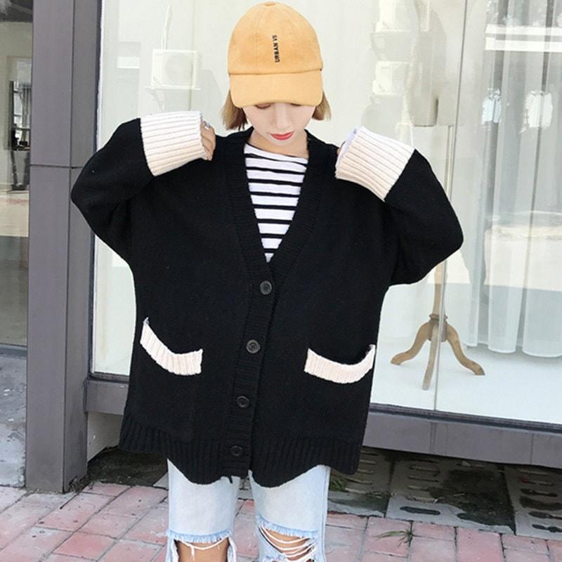 韓国ファッション ★最高質★ニットカーディガン・セットアップ♪ タートルネック★体型カバーになる!!! プルオーバーニット/ニットスカート/セットアップ・ポレロ