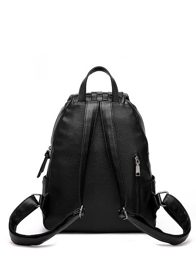 Women s Backpack Latest Style Solid Preppy Woven Cover School Bag