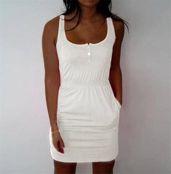 XS  -  XXXXLプラスサイズレディース弾性ウエストスリムフィットミニドレススカートセクシーなノースリーブデートスカートドレス