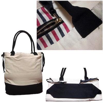 バッグオールbag all おしゃれなキャンバストートバッグ 大きめ マチ広い 大容量 ブランド ポケット付き マザーズバッグ NYC レディース 大学生 ショルダー 人気 新品