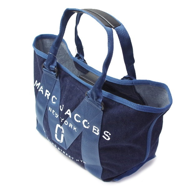 MARC JACOBS マークジェイコブスレディース トートバッグSMALL TOTO NEW LOGO TOTOM001124 423DENIM