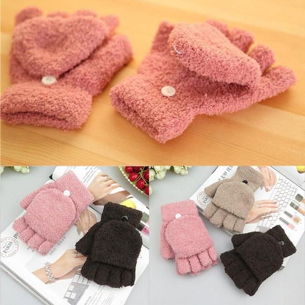 柔らかい良い1ペアミトンアスレチックかわいい女性ファッション新しい手袋指のない冬の手