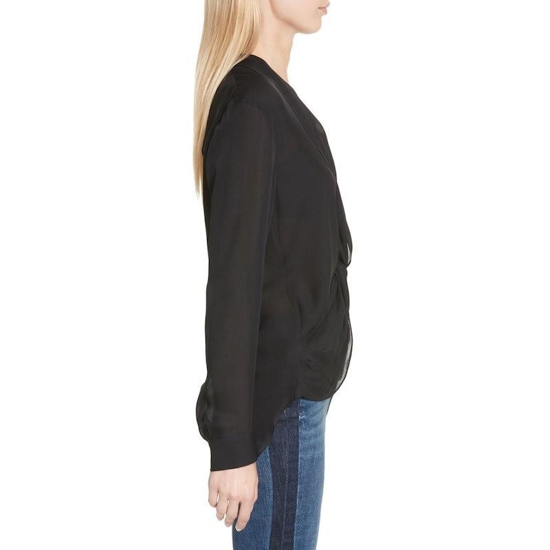 ラジャンス レディース トップス ブラウス・シャツ【Twist Front Silk Blouse】Black