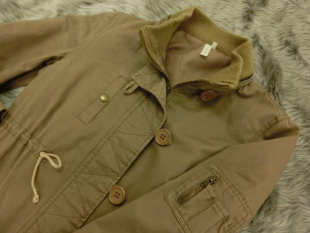 LOPHIA フード付きコート 38 ブラウン系 綿素材【中古】