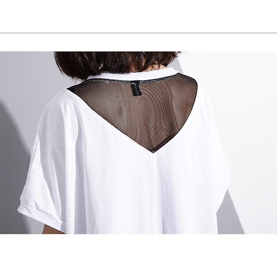 全2色★ゆるっと感が可愛い!体系カバーにも♪サイド英字がキュートな半袖Tシャツ♪