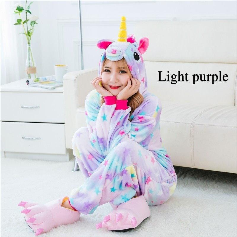 Animal Unicornio Onesieきぐるみパジャマセットメンズユニセックスユニコーンパジャマコスチュームメンズメンズ