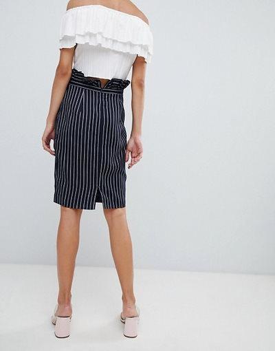 ユニークトゥエンティワン レディース スカート ボトムス Unique 21 pinstripe midi skirt