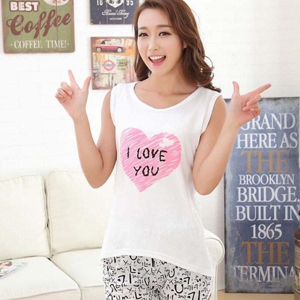 女性ノースリーブトップスショーツパジャマセット179-01-00773(サイズ:0、カラー:Multicolor)