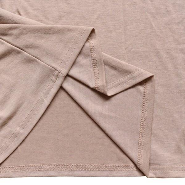カジュアルな女性の半袖ロングTシャツドレスソリッドVネックドレス