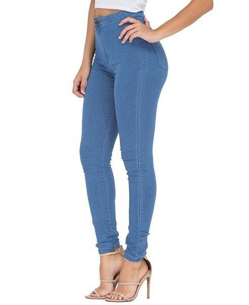 女性のファッションセクシーなストレッチレッグパンツバットスキージーンズを持ち上げる