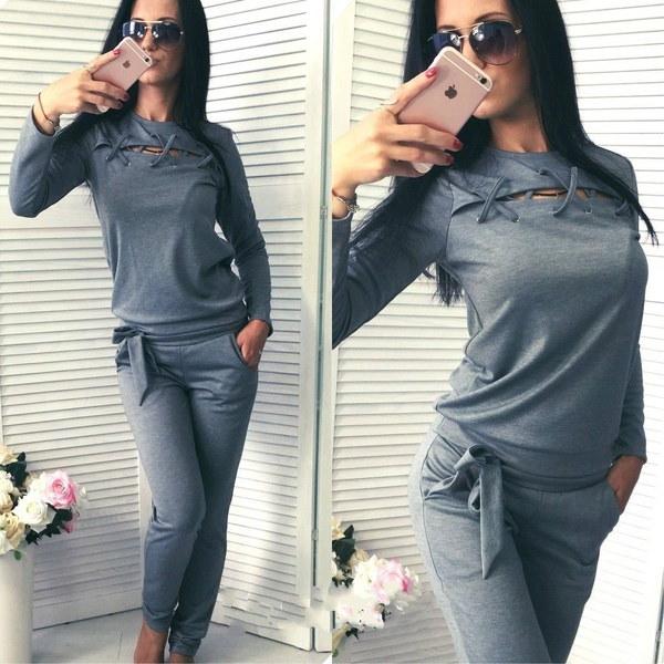 2本のセット女性のトラックスーツのLoungewearレディースジョガージョギングパンツのスウェットシャツ