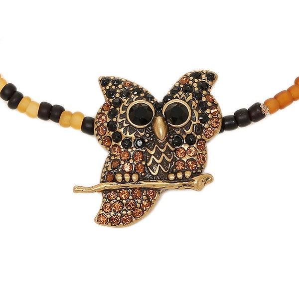 マークジェイコブス ブレスレット MARC JACOBS M0009969 002 CHARMS OWL BEADED BRACELET バングル BLACK MULTI