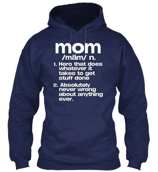 ママのシャツGildan 8oz Heavy Blend Hoodie