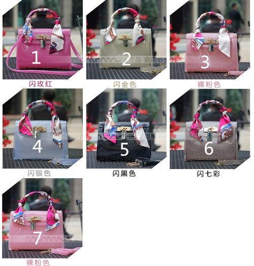 ◆送料0円◆ラメ入り  ビニールバッグ  トートバッグ ショルダーバッグ