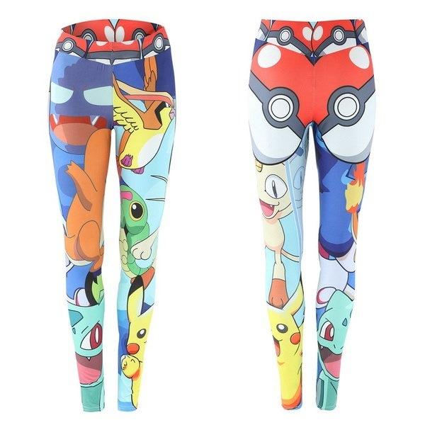 3Dプリントポケモン女性ヨガ圧縮パンツ弾性タイツ女性運動スポーツフィットネスジョギング