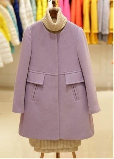 2017秋冬韓国ウールコートCasacos Femininosプラスサイズレディースジャケットとコート