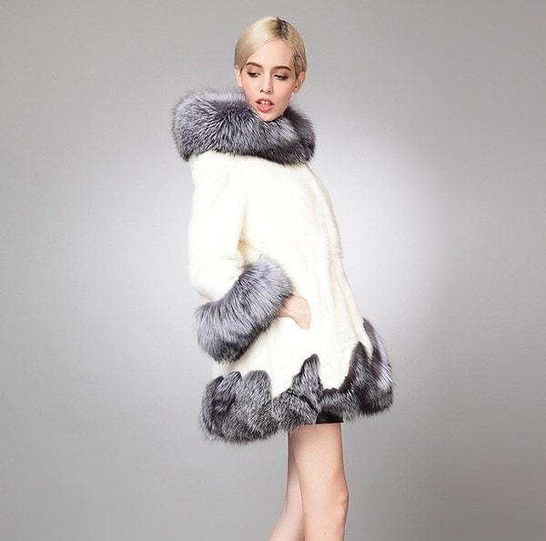 女性の絶妙なフェイクファーコート冬のフード付きソフトフリースシックなジャケットロングパーカーコートプラスサイズS  -  6