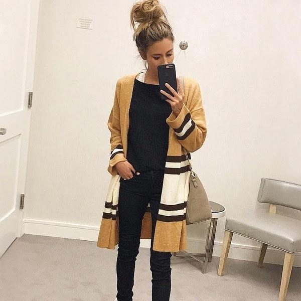 新しい女性ファッションウィンターカジュアルロングスリーブニットカーディガン秋ポケットセーターかぎ針編みのレディース