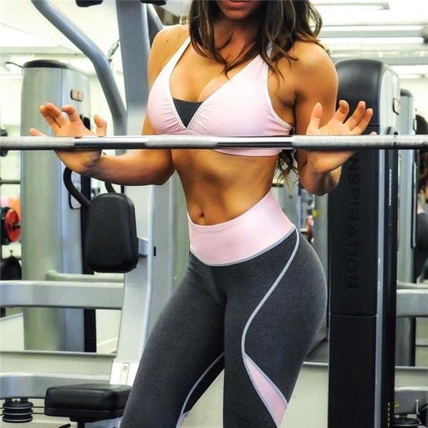 女性ウエストヨガフィットネスレギンスランニングジムストレッチスポーツパンツズボン
