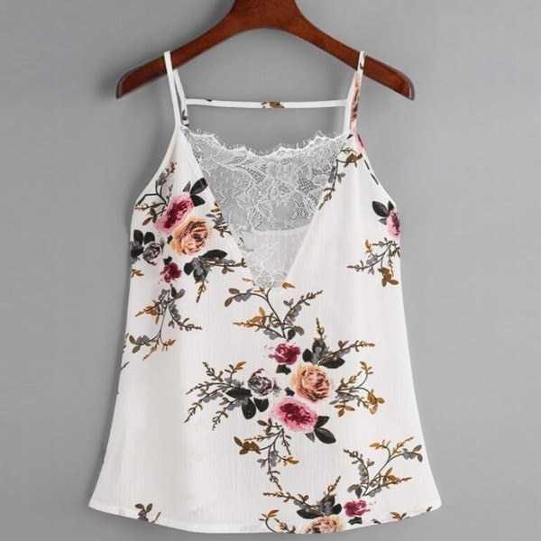 Popular Women Lace Vest Top Sleeveless Casual Tank Blouse Summer Tops T-Shirt