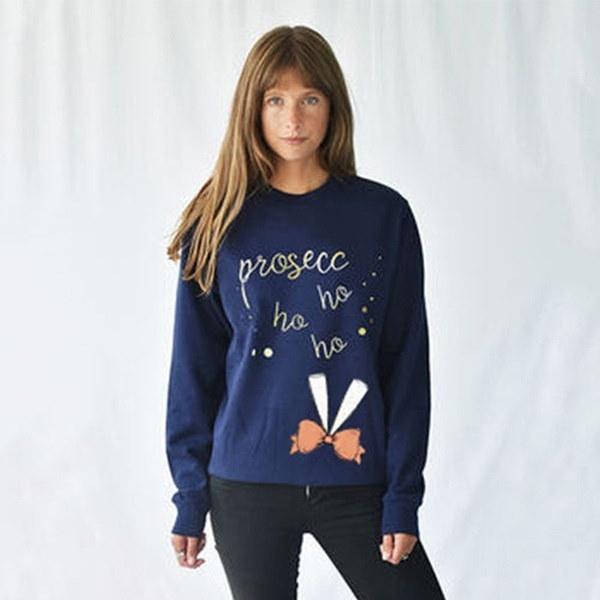 Vicabo WomenクリスマスプリントロングスリーブブラウストップスラウンドカラーTシャツジャンパーカジュアルXmas Swea