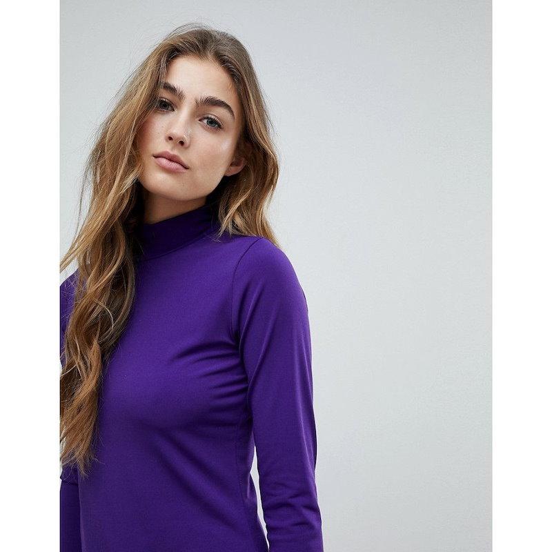 ウェアハウス レディース トップス【Warehouse Plain Roll Neck Top】Purple