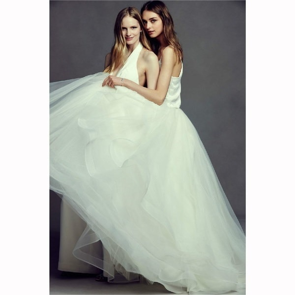 Wayin  Deep V-Neck Bridal Pant Suit Backless Wedding Jumpsuit Dresses