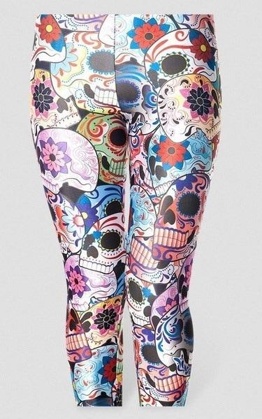 死んだレギンスの女性の新しいセクシーなファッションデーデジタルプリントパンツスカルレギンス