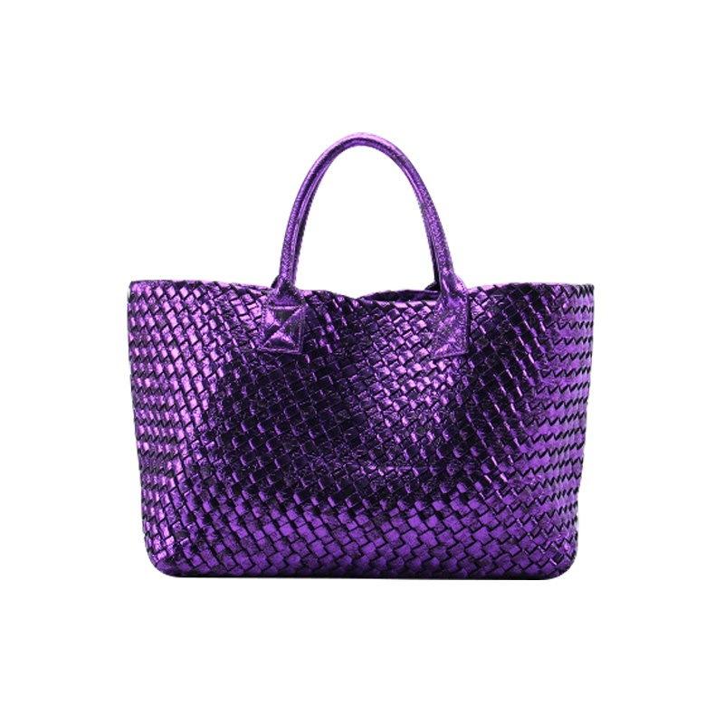 【予約 / 送料無料】レディースファッショントートバッグ/キラキラ編みバッグ/大容量/通勤/ショッピング/オシャレ/人気女子バッグ/鞄/10 colors