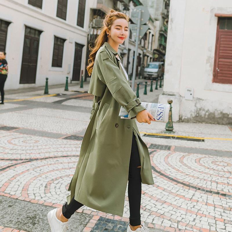 【送料無料】人気 新型 ★★ZAKKA★★ 韓国ファッション レディース服/ロングコート/大きいサイズ/韓国 コート/トレンチコート/ミリタリー