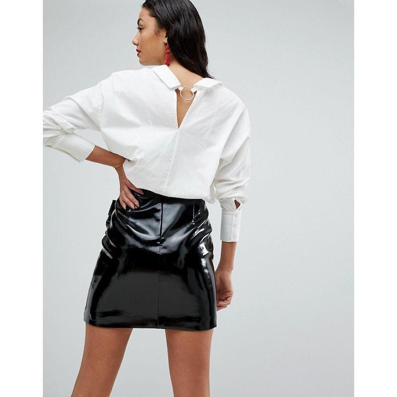 ヴェロモーダ レディース トップス ブラウス・シャツ【Vero Moda Tall Shirt With Hardware Detail】White