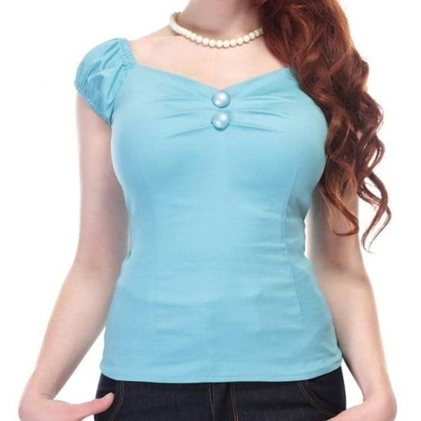 女性レトロ2バックルTシャツヴィンテージメインラインドロレス人形トップたくさんの色