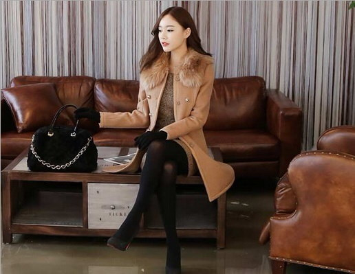 2015ファッションは、女性のトレンチコートの布ロングダストコートを導いた