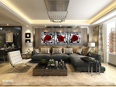 3 Pcs Fashion Rose Flower Pictures Decoration Canvas Wall Oil Painting  for Living Room Toile Modern