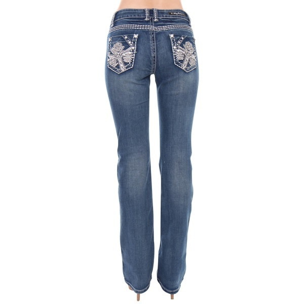 Beston  Clothing Beston Women s S96-PB Mid Rise Flare Bottoms Boot Cut Jeans