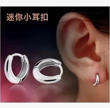925スターリングシルバー耳バックル女性韓国のシルバーイヤリングイヤーフープイヤリングは簡単なスモーです