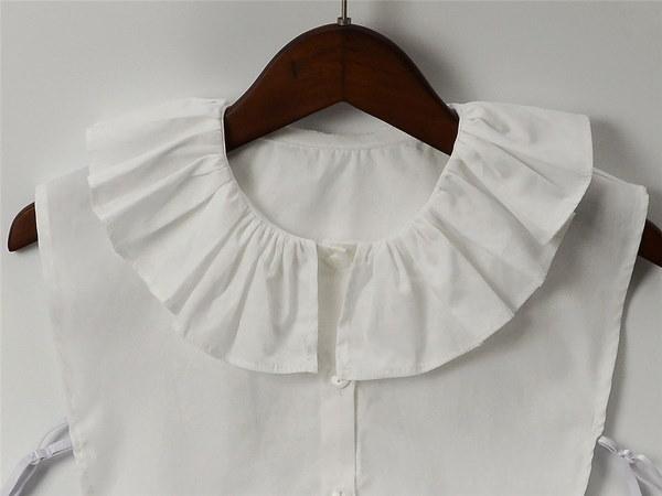 女性のシャツアクセサリー脱着可能な偽の襟(カラー:ホワイト)
