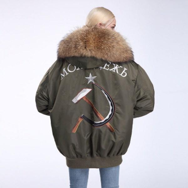 Oversize Real Fur MA-1 Coat オーバーサイズ リアルファー付MA-1コート ショート丈