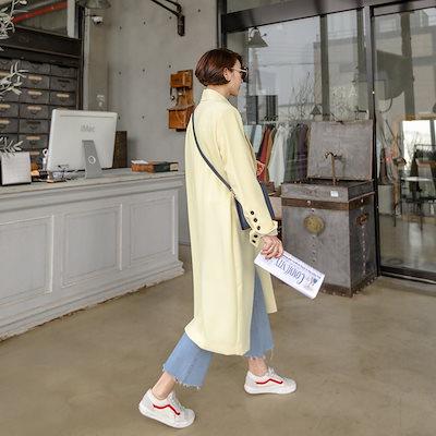 PPGIRL(韓国ファッション)♥送料 0円★PPGIRL_B522 Pastel long jacket / trench coat / long jacket / tailored jacket / outer /