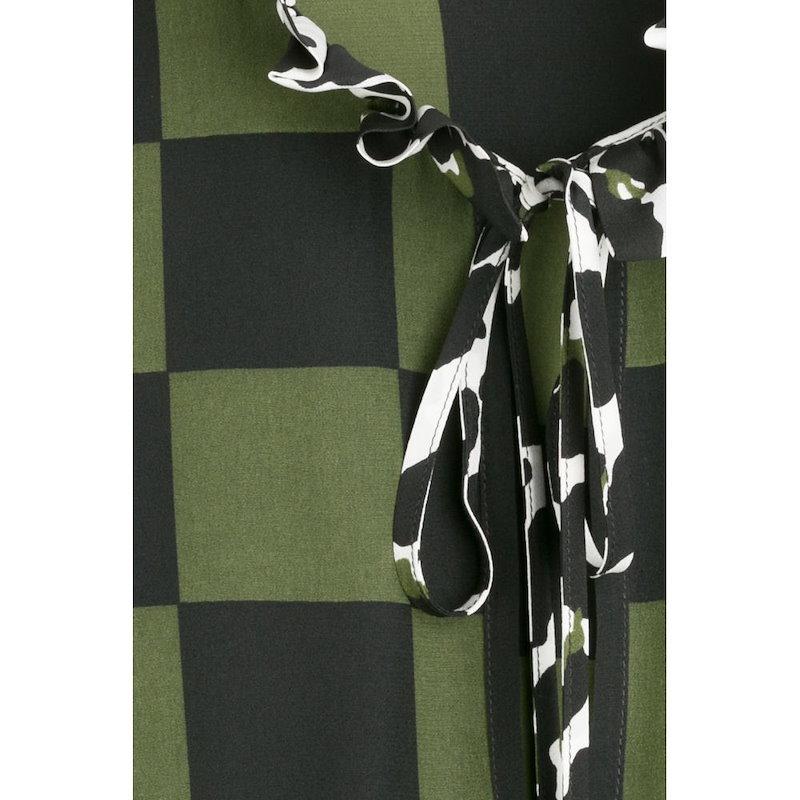 エムエスジーエム MSGM レディース トップス ブラウス【Silk Mixed Print Tie Neck Blouse】multicolored