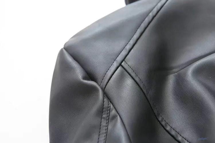 欧米風レディース レザージャケット ボタンなし ショート丈 ライダースジャケット ブルゾン PUジャケット 皮ジャン 革ジャン