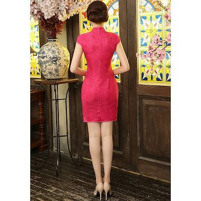 チャイナドレス ミニ チャイナドレス セクシー チャイナドレス 大きいサイズ チャイナドレス ショート チャイナドレス xl チャイナ風 ワンピース  着痩せ 半袖