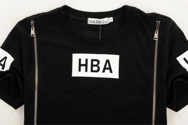 HBA    Printed round neck men and women short sleeve T-shirt