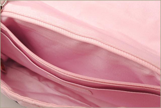シャネル ハンドバッグ/ショルダーバッグ CHANEL マトラッセ ジャージー素材 ハートココ ピンクマルチ【中古】