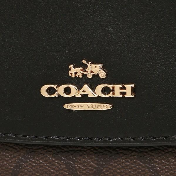 コーチ 財布 アウトレット COACH F54022 IMAA8 シグネチャー スリム エンベロープ ウォレット 長財布 ブラウン/ブラック