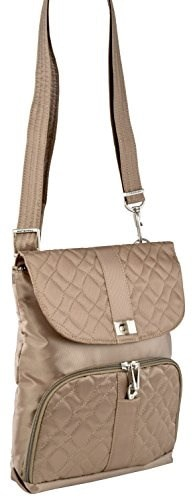 Travelon Anti-Theft Flap Front Shoulder Bag  polo