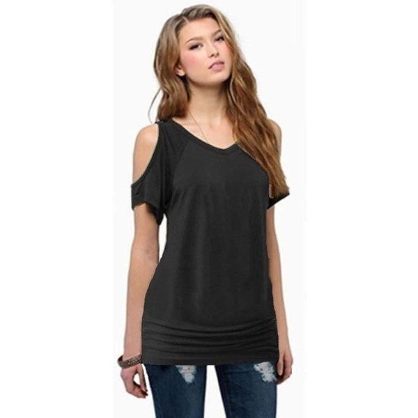 女性ファッションセクシーなオフショルダー半袖カジュアルTシャツブラウストップス