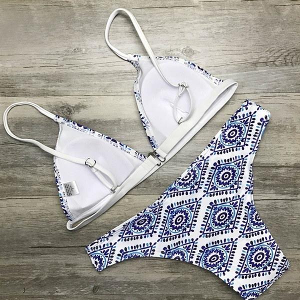 新しい女性夏セクシー水着三角トップスビキニセット水着ビーチウェア水着