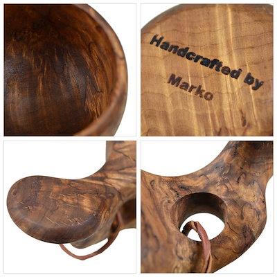 Bush Craft inc. カーリーバーチ無垢 北欧フィンランド製本物のククサ 4573350727775 / プレゼント ギフト ブッシュクラフト アウトドア ソロキャンプ